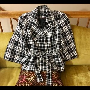East 5th White/Black Peacoat Jacket